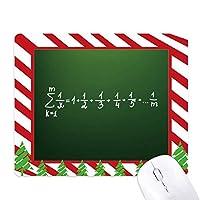 数学の知識の式 ゴムクリスマスキャンディマウスパッド