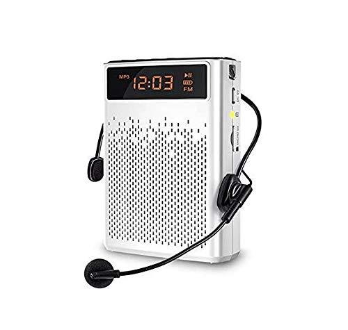 ZOUSHUAIDEDIAN Amplificador de Voz inalámbrico con micrófono, 10W, 1000mAh Recargable portátil for Maestros, guías, Entrenadores, Reuniones, Yoga, Fitness y Aire Libre
