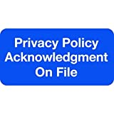 """Doctor Stuff - File Folder Chart Labels, SY-1728, Privacy Policy, HIPAA Medical Stickers, Blue/White, 2"""" x 1"""", 252 per Pack"""