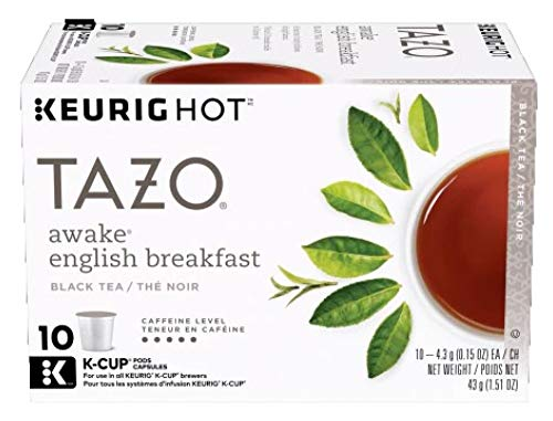 Tazo K-Cup Pods, Awake English Breakfast Black Tea, 10 Count (Pack of 6)