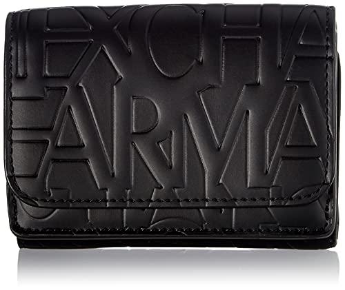 Armani Exchange Mini Wallet, Travel Accessory-Portafoglio Bi-Fold Donna, Schwarz, Taglia unica