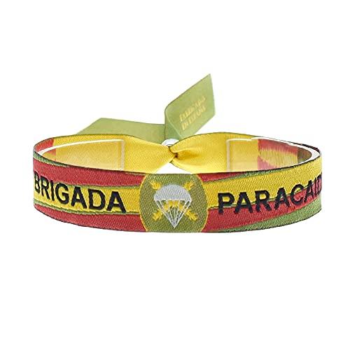 BDM Pulsera Tela Brigada paracaidas con la Bandera España, Hombre y Mujer.