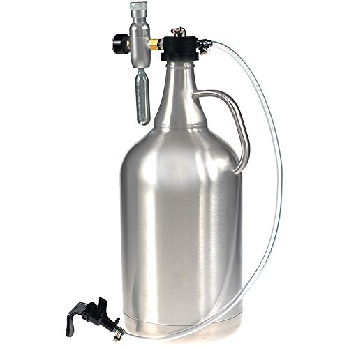 128oz Stainless Steel Insulated Growler with Dispenser by Spotted Dog Company