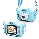 Kids Camera for Girls and Boys, Digital Dual Camera 2.0 Inches Screen 20.0MP Video Camcorder Anti-Drop Children Selfie Cartoon Camera for Gift - 32GB Memory Card Included