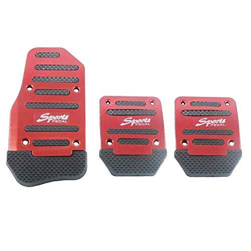 Copertura per pedali dell'auto in lega di alluminio, antiscivolo, pedale automatico (colore rosso)