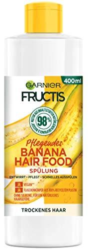 Garnier Spülung, Pflegende Banana, vegane Formel, für trockenes Haar, Hair Food, Fructis, 400 ml