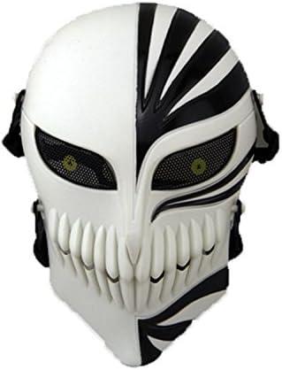 haoYK Airsoft Tactical Gear Cosplay Juego de malla de metal con protección para los ojos Paintball máscara de protección completa de cara