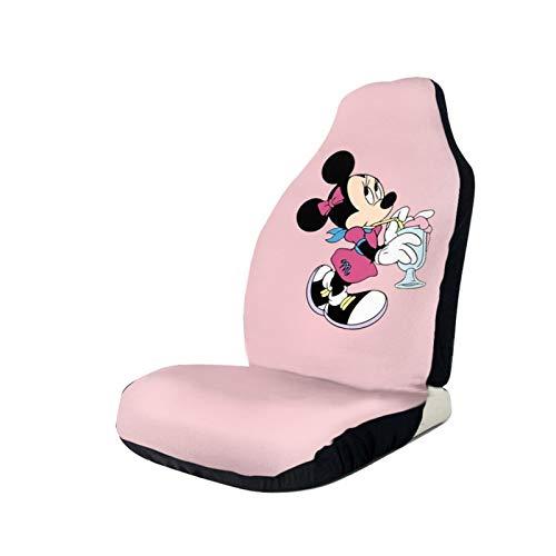 Funda de asiento de Mickey Minnie Mouse con dibujos animados, antideslizante, antisuciedad, a prueba de polvo, transpirable, ajuste universal para coche, camión, todoterreno, adolescentes, 1 unidad