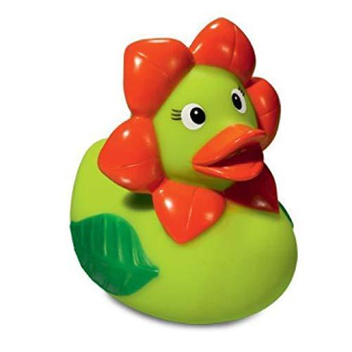 Quietsche-Ente Blume Badespaß Gummiente Quitschente Badeente Badespielzeug