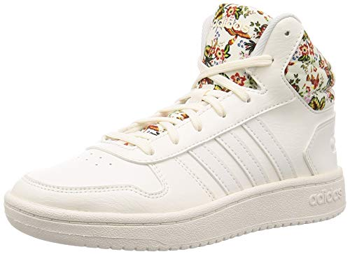 adidas Damen Hoops 2.0 Mid Basketballschuhe, Weiß (Cloud White/Cloud White/Ftwr White), 40 EU (6.5 UK)