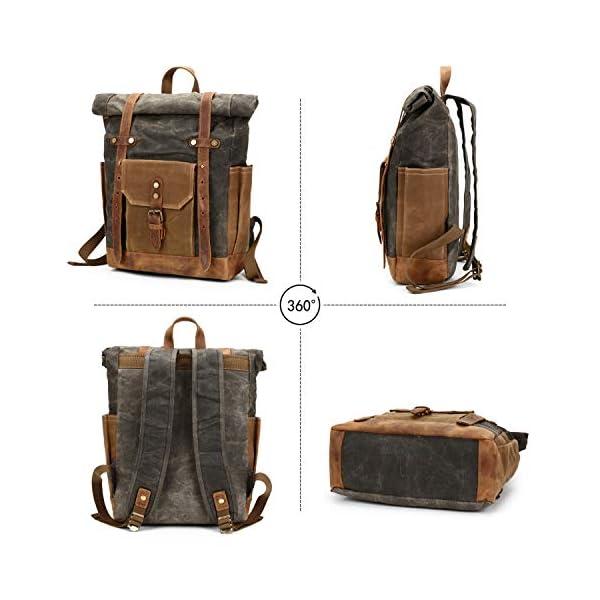 41MtGnNsOgL. SS600  - FANDARE Moda Impermeable Bolso de Escuela Viaje Mochila Hombres 15.6 Pulgadas Laptop Backpack Outdoor Camping Gran…