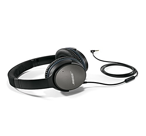Price comparison product image Bose QuietComfort 25 Acoustic Noise Cancelling Headphones for Apple devices - Black (Wired 3.5mm)