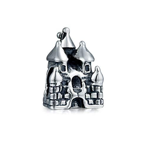 Fairytale Princess Schloss Charm Bead Für Damen Für Jugendlich 925 Sterling Silber Passt Europäischen Charm Armbänd