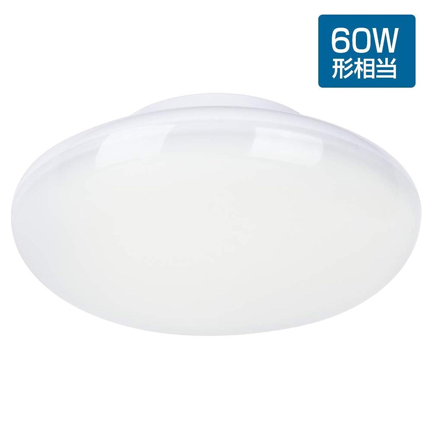 チャレンジイソギンチャク強化LEDシーリングライト 小型 4.5畳 昼白色 8W 60w形相当 5000k 720lm 照明器具 おしゃれ 引掛式