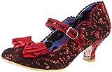 IRRA4|#Irregular Choice Damen Summer Breeze Mary Jane Halbschuhe, (Red BRN), 8.5 EU