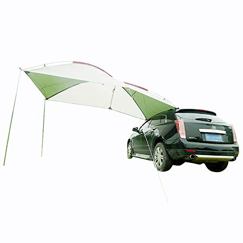 BLJS Car Awning Canopy, Portable Auto Sun Canopy, Car Rail Side Tent, Waterproof Windproof Anti-UV for Camping Outdoor Travel,Fiberglass rod