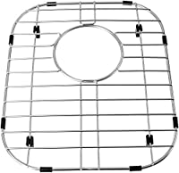 12.6 x 14.6 シンクグリッド ステンレススチール シンクプロテクター シンクボトムグリッド シンクマット シンクラック ダブルシンクボウル用リア排水口付き (37 x 32cm)