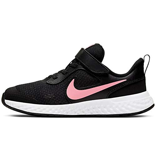 Nike Revolution 5 (PSV) Running Shoe, Black/Sunset Pulse, 34 EU