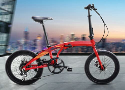 Java - Bicicleta plegable de 20 pulgadas, 7 velocidades, fre