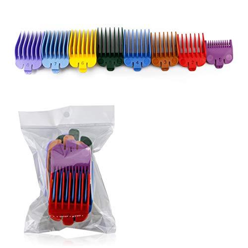 SHEAWA - Peines universales para cortapelos con guías para cortapelos WAHL 2170/2171/21061/21062/8591/8148/8466 (8 piezas/juego)