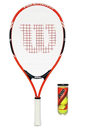 Wilson Kinder Schläger Roger Federer, rot/grau, 23 Grip, rot, 48,26 cm
