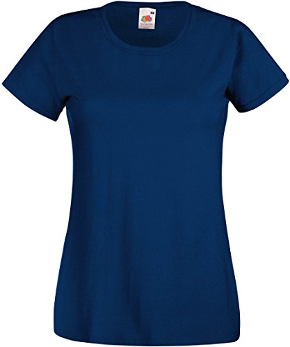 Fruit of the Loom Lady-Fit Valueweight T 61-372-0 M,Navy