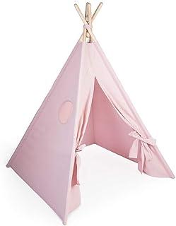 Tipi-tält för barn från trä | Tipi-tält inomhus i minimal design | tipi-tält för barn från eko-bomull | 100 % ECO | Tillve...