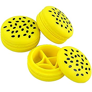 Silicone Container YHSWE Non-Stick Food Grade Sesame Cake Silicone Containers for Food 48ml 3Pec Reusable Multi Use Storage Jars Yellow $4.5/pcs