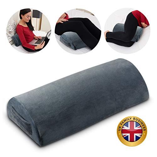 Byre Half Moon Pillow | Premium Memory Foam Lumbar Support & Knee Pillow | UK Family Business | Pregnancy Pillow | Back, Neck & Leg Pain Relief