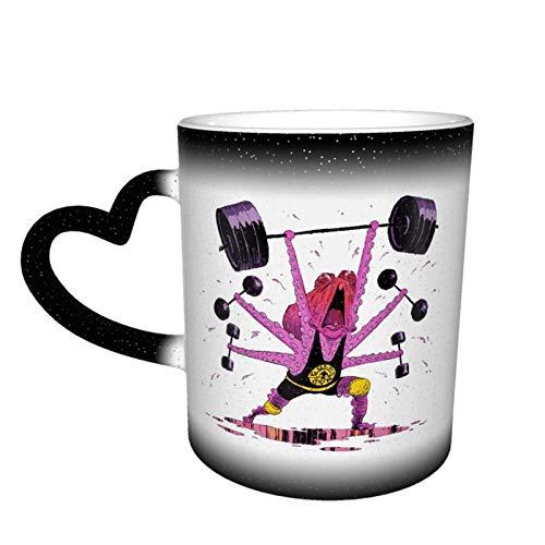 Para Octopus Gym - Taza unisex con cambio de color de cielo estrellado, taza de café de cerámica como regalo para cumpleaños, día del padre y vacaciones, 11 oz