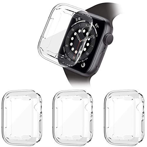 HAPAW [3-pezzi] Compatibile con Apple Watch SE/Serie 6/5/4 Custodia Protettiva 44 mm, Custodia protettiva in TPU Resistente ai Graffi Custodia Protettiva Compatibile con iWatch Serie SE /6/5/4