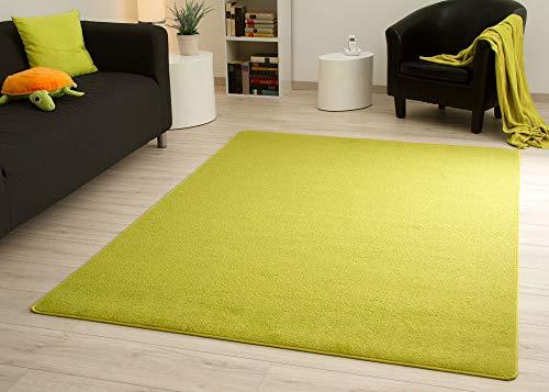 Steffensmeier Kurzflorteppich Cambridge Young | Teppich für das Wohnzimmer, Jugendzimmer in Grün, Größe: 120x180 cm