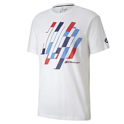PUMA Herren BMW M Motorsport Graphic Tee Q2, Herren, Hemd, BMW, Weiß, Medium