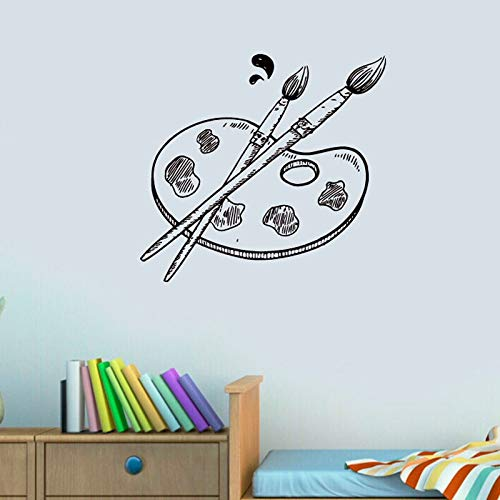 Paletten- und Pinselmalerei Wandaufkleber Kunstdekoration Wandaufkleber Wandbilder Wohnzimmer Kinderzimmer Wandaufkleber Abziehbilder A7 58x58cm