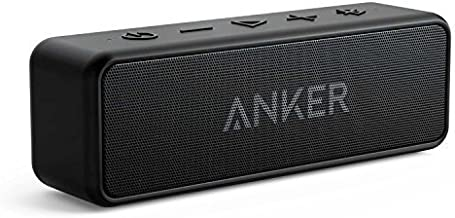 Anker [Upgraded] SoundCore 2 Portable Bluetooth Speaker with 12W Stereo Sound, Bluetooth 5, BassUp, IPX7 Waterproof, 24-Hour Playtime, Wireless Stereo Pairing, Speaker for Home, Outdoors, Travel