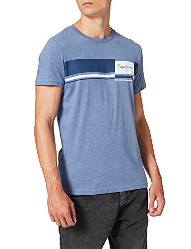 Pepe Jeans Kade Camiseta, 533light Thames, XXL para Hombre