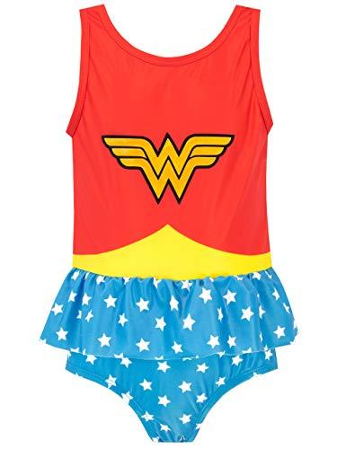 DC Comics Bañador para Niña Mujer Maravilla Wonder Woman Multicolor 10-11 Años