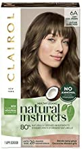 Clairol Natural Instincts Semi-Permanent, 6A Light Cool Brown, Tweed, Pack of 3
