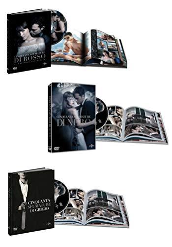 50 Cinquanta Sfumature Trilogia Digibook (3 dvd + Libri) Collezione 3 Film