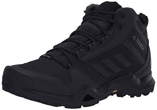 adidas mens Terrex Ax3 Mid Gore-tex Hiking Black/Black/Carbon 11.5