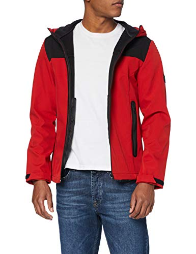 JACK & JONES Herren Jacke, Blocking Chinese Red, L