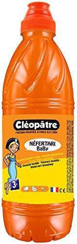Cléopâtre - PGBB1-15 - Peinture Gouache Néfertari Baby - Orange - Flacon 1 L