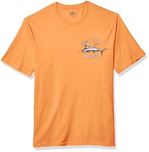 IZOD Men's Short Sleeve Graphic T-Shirt, Autumn Sunset, X-Large