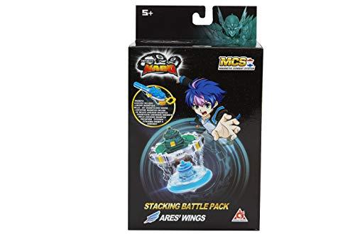 Infinity Nado - TOUPA con LANZOR Ares Wings - Spinner Nado apilable con Lanzador magnético y Anillo de Metal apilable Juguete Infantil de 5 años y más