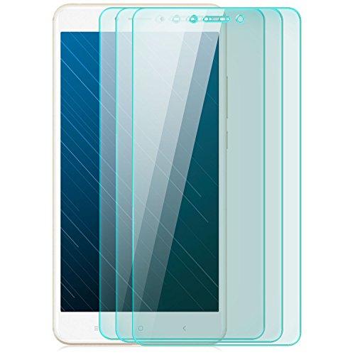 zanasta 3 Stück Bildschirmschutz Folie kompatibel mit Xiaomi Mi Max 2 Bildschirmschutzfolie aus gehärtetem Glas Schutzglas Glasfolie Schutzfolie | HD Klar Transparent