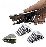 Stapler with 2000 Staples and Remover Set, Heavy Duty Stapler Pliers- 20 Sheets Capacity-Easy Stapler Reduce Effort -Full Desktop Office Classroom (Silver)