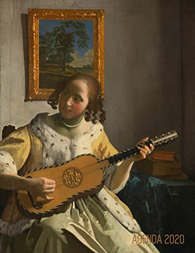 Johannes Vermeer Planificateur 2020: Une Femme Jouant de la Guitare | Agenda Annuel | Peinture de Maître Hollandais | Pour l'Organisation à la Maison ou au Bureau