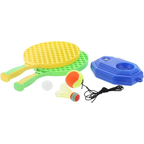 Liujaos Kit de Raqueta de Tenis para niños, Tenis con Cuerda Equipo de Entrenamiento de Tenis Ligero Práctica Raqueta de Tenis para niños para canchas de Tenis para canchas de Baloncesto