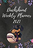 Dachshund Weekly Planner 2021: With Interesting Facts About Dachshunds on Random Pages and US Federal Holidays (Agenda)