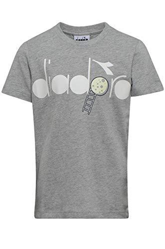 Diadora - Maglietta Unisex per Bambini J.SS 5 Palle, Unisex - Bambini, T-Shirt, 102.175190, Grigio, L